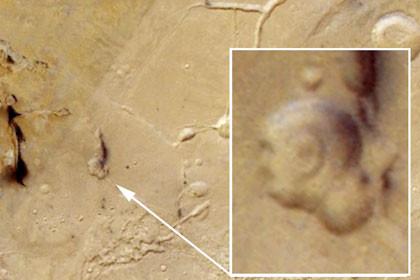 Ein neues Marsgesicht bei Google Mars Maps, aufgenommen von der Sonde Mars Express (ESA/DLR/FU Berlin, G. Neukum)