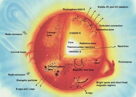 Aufbau der Sonne (Quelle: NASA)
