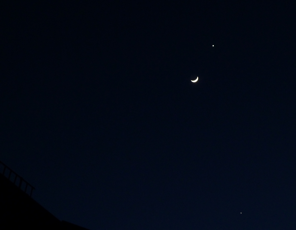 Venus, Mond, Jupiter