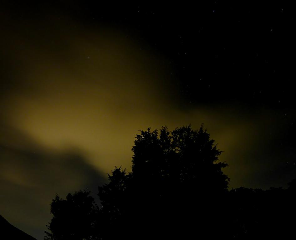 Beleuchtete Nachtwolke