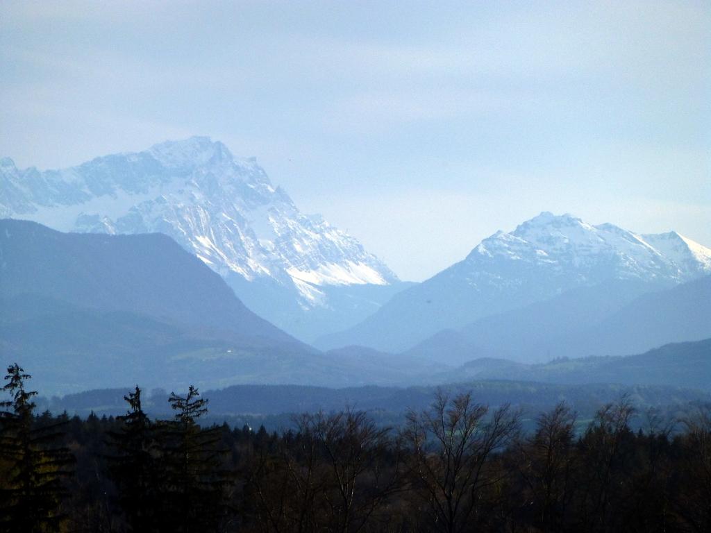 Zugspitze von Peretshofen aus gesehen