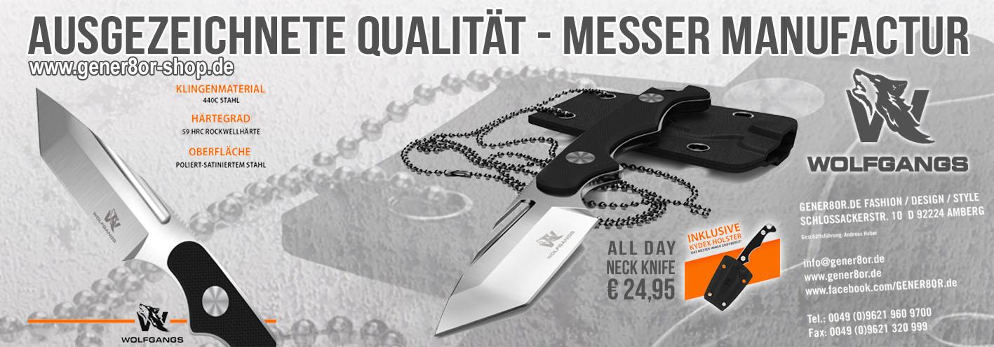 Qualitäts-Messer aus der Manufaktur Wolfgangs