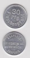 Knapsack-Griesheim AG, Flaschenpfandmarke