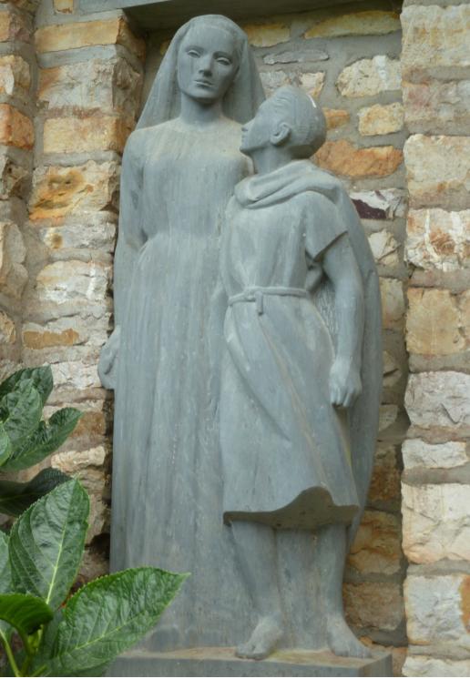 Marie et Jésus adolescent à Derval - J.Fréour