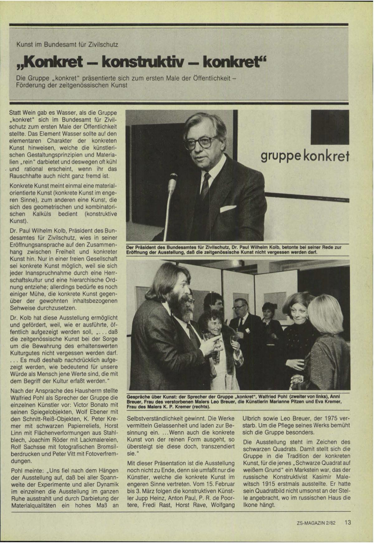 Bundesamt für Zivilschutz 1982