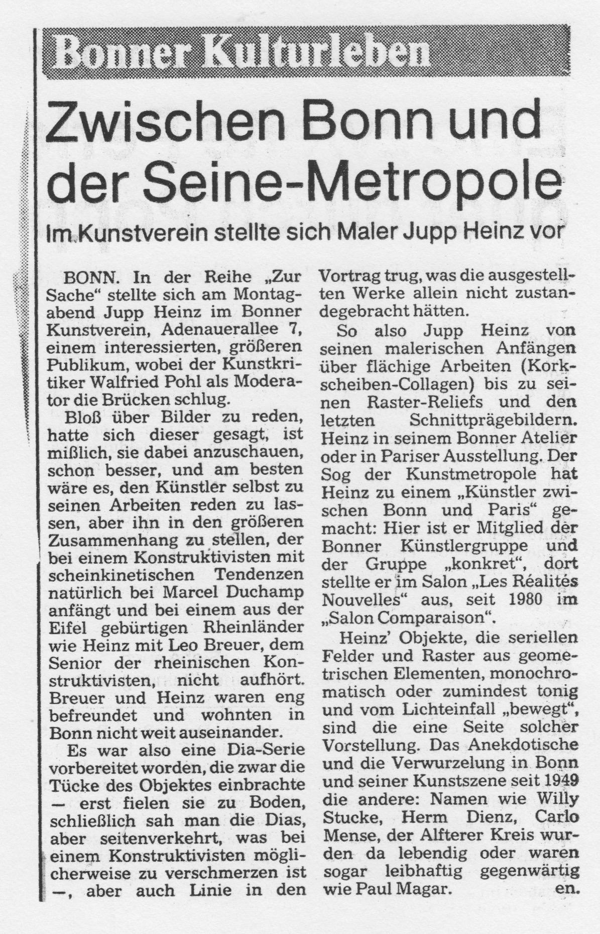 Bonn, Bonner Rundschau 1983