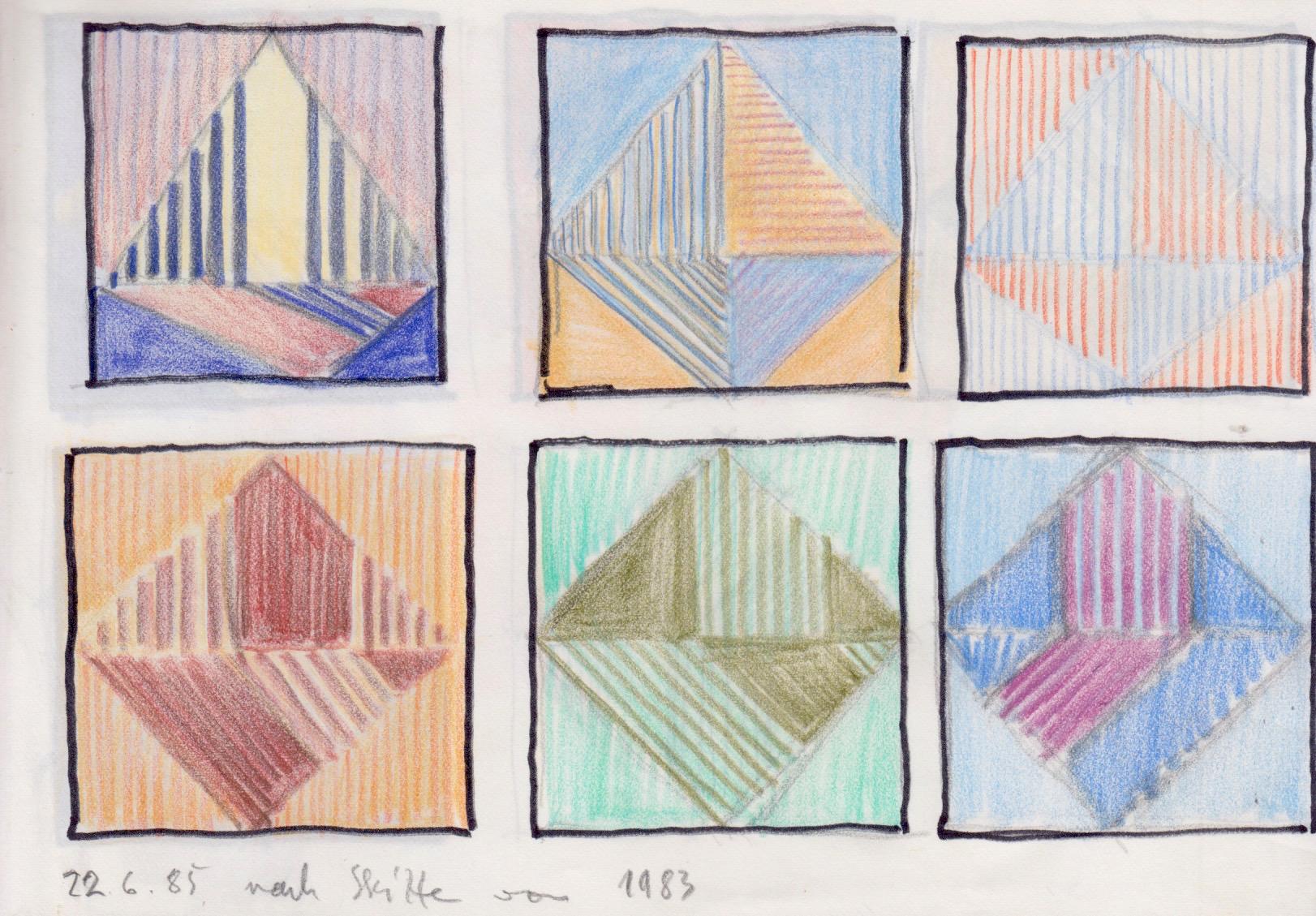 Entwurf Formen farbig 1983