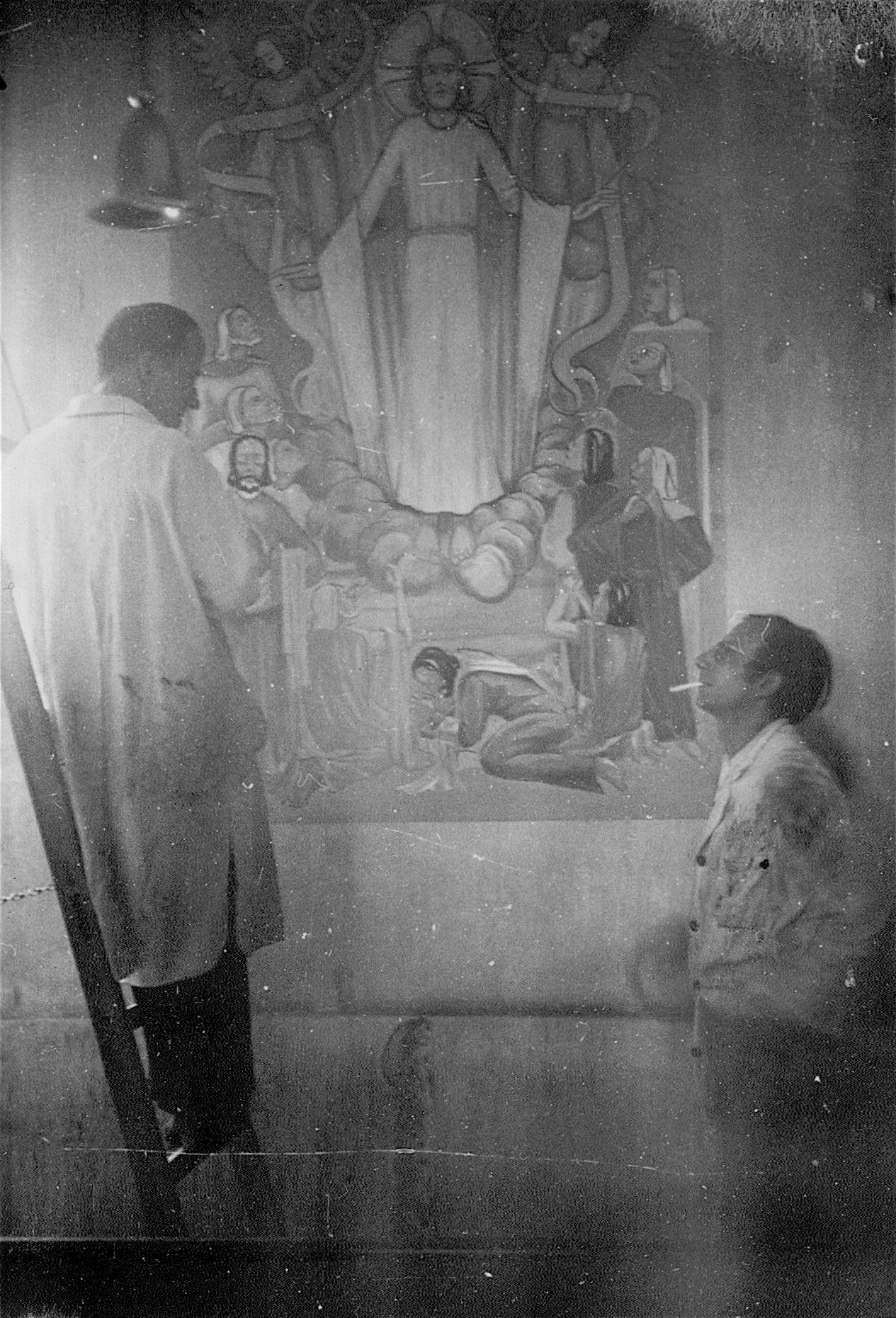 Arbeit an einem Altar