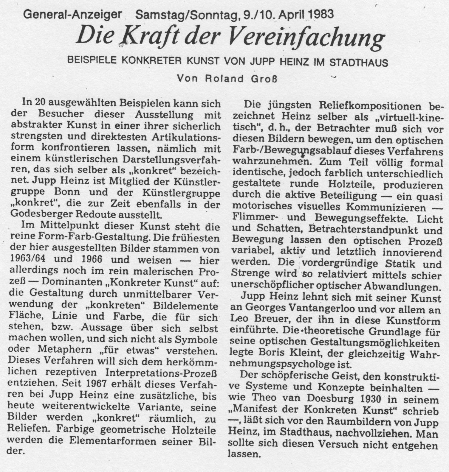 Bonn, General-Anzeiger 1983