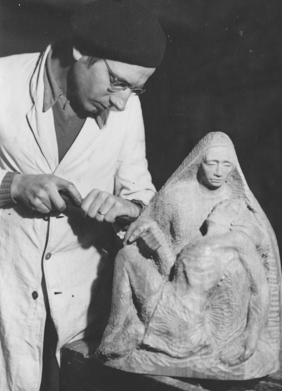 JH als Bildhauer