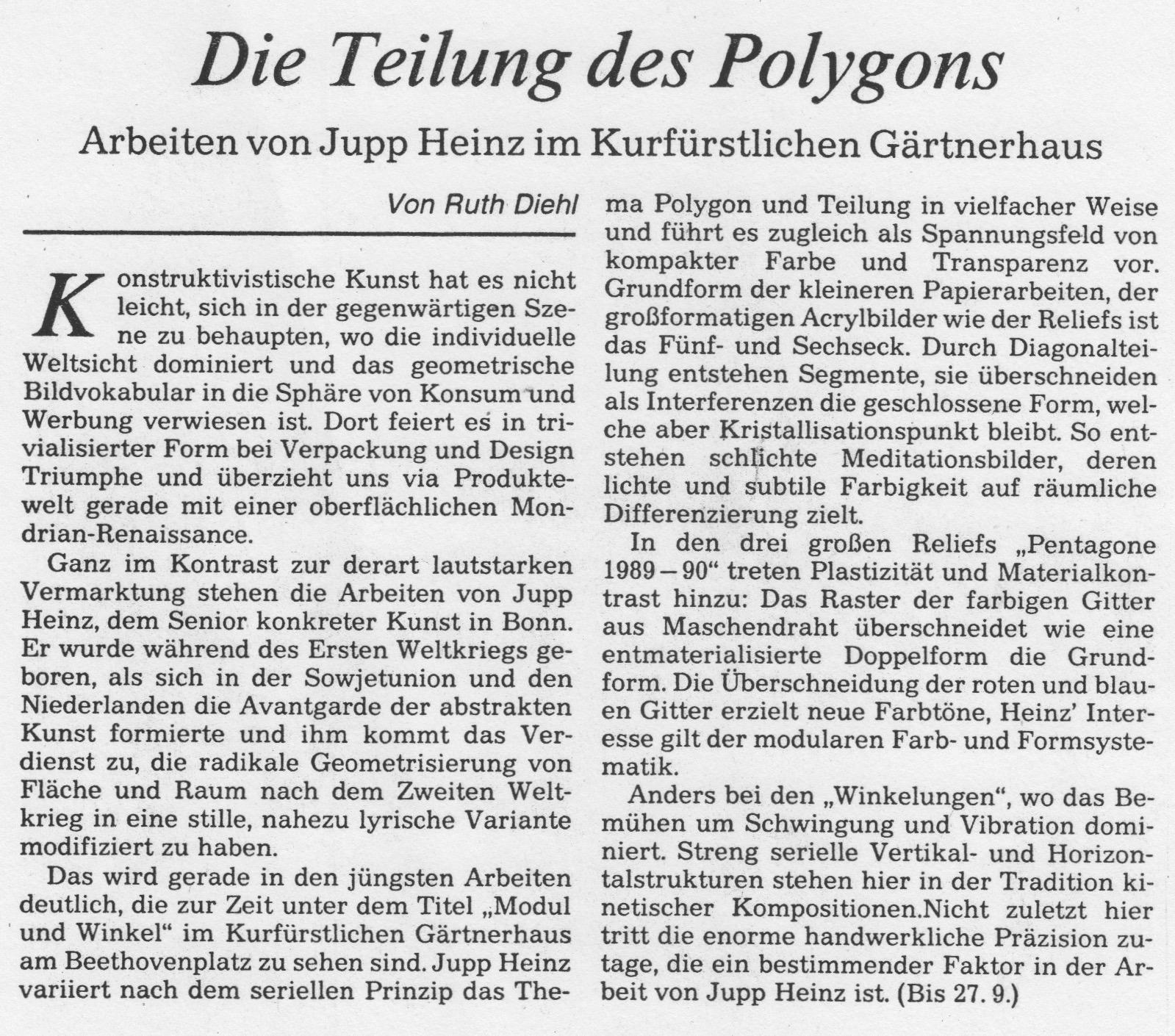 Bonn, General-Anzeiger 1990