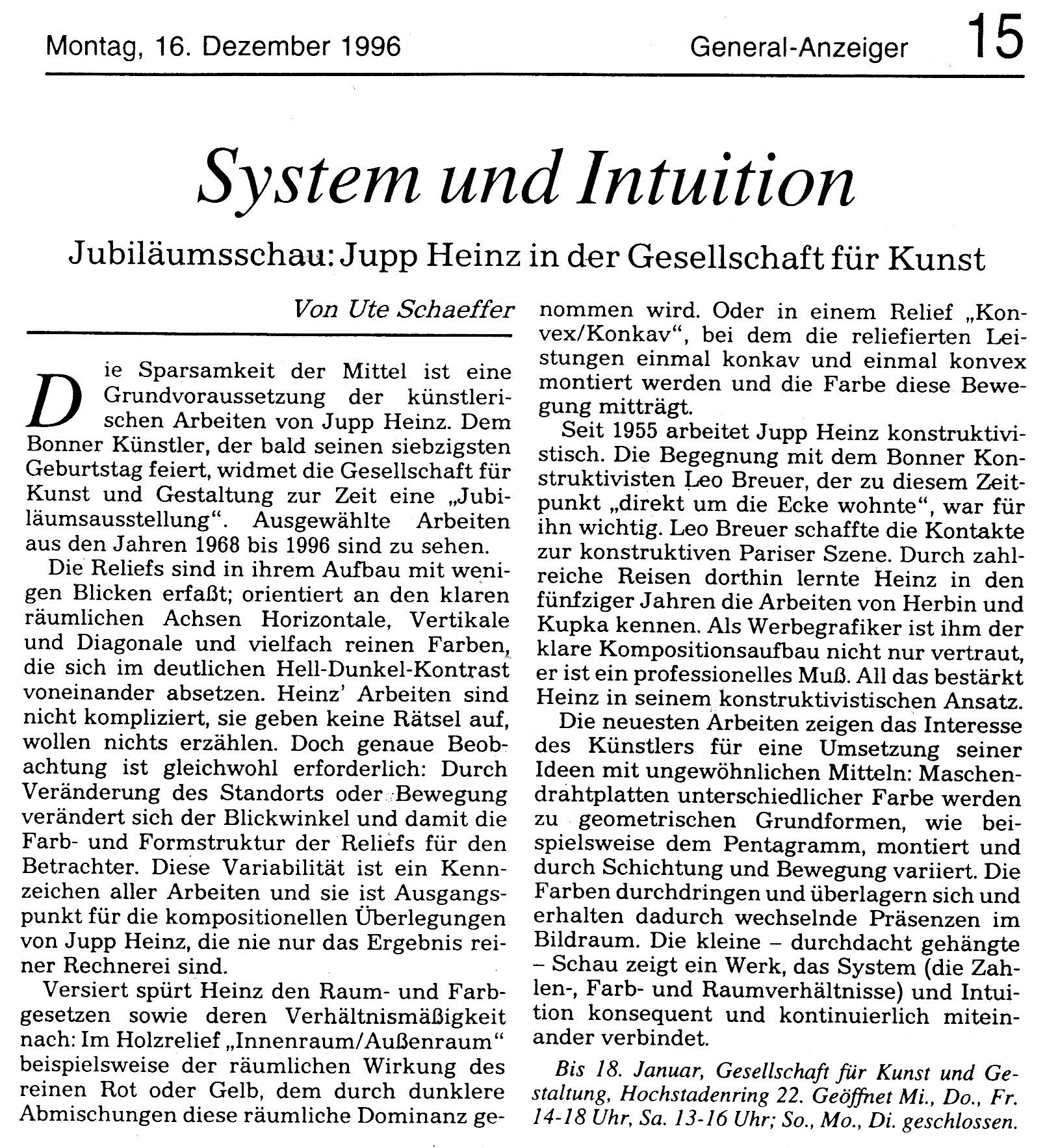 Bonn, General-Anzeiger 1996