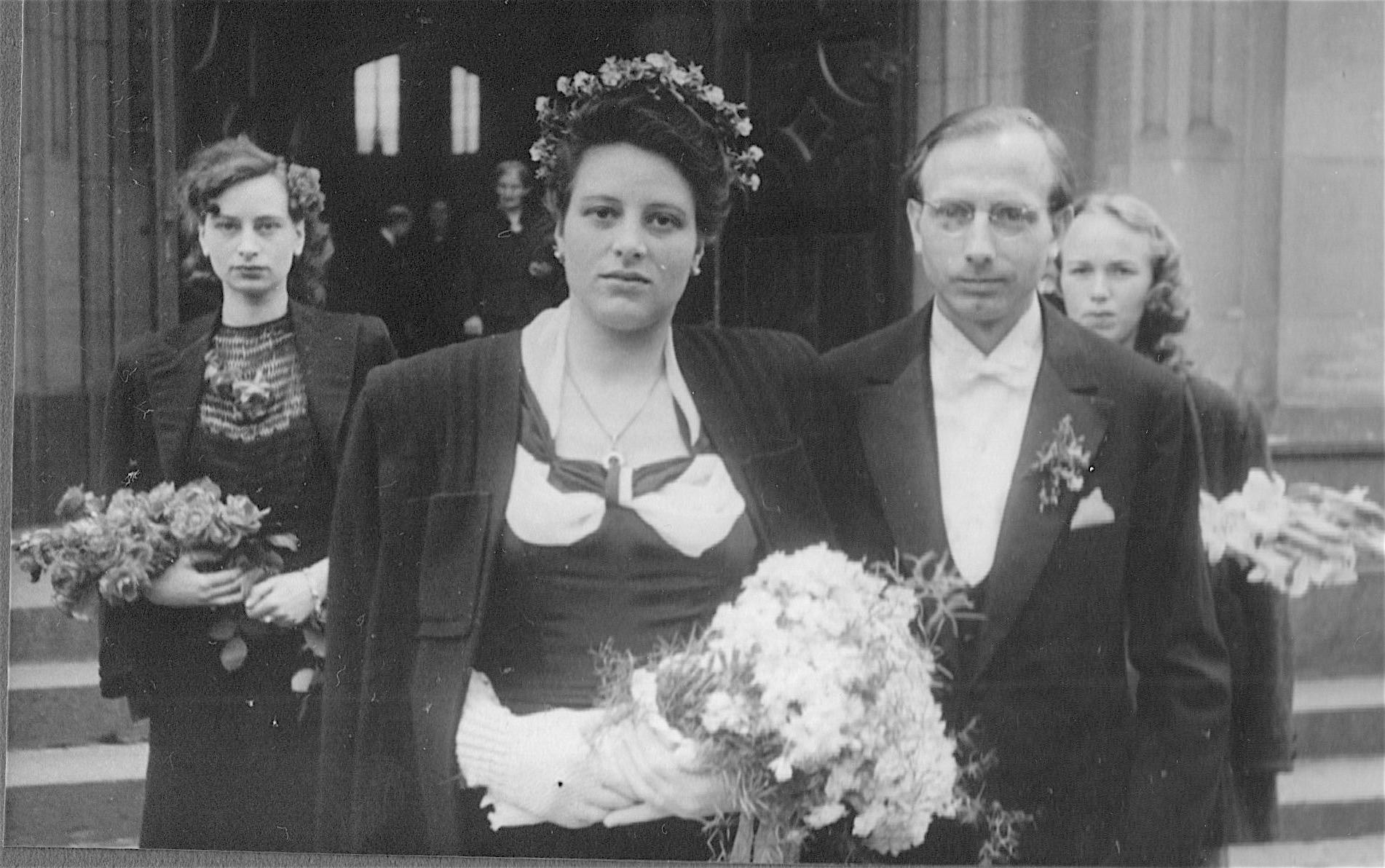 Hochzeit mit Doris Berghäuser 1949