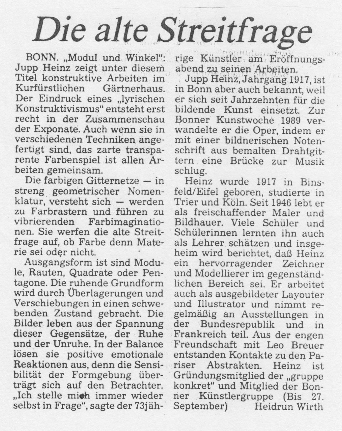 Bonn, Bonner Rundschau 1990