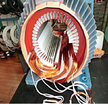 (ABB製)90kwモーターのコイル巻替え1