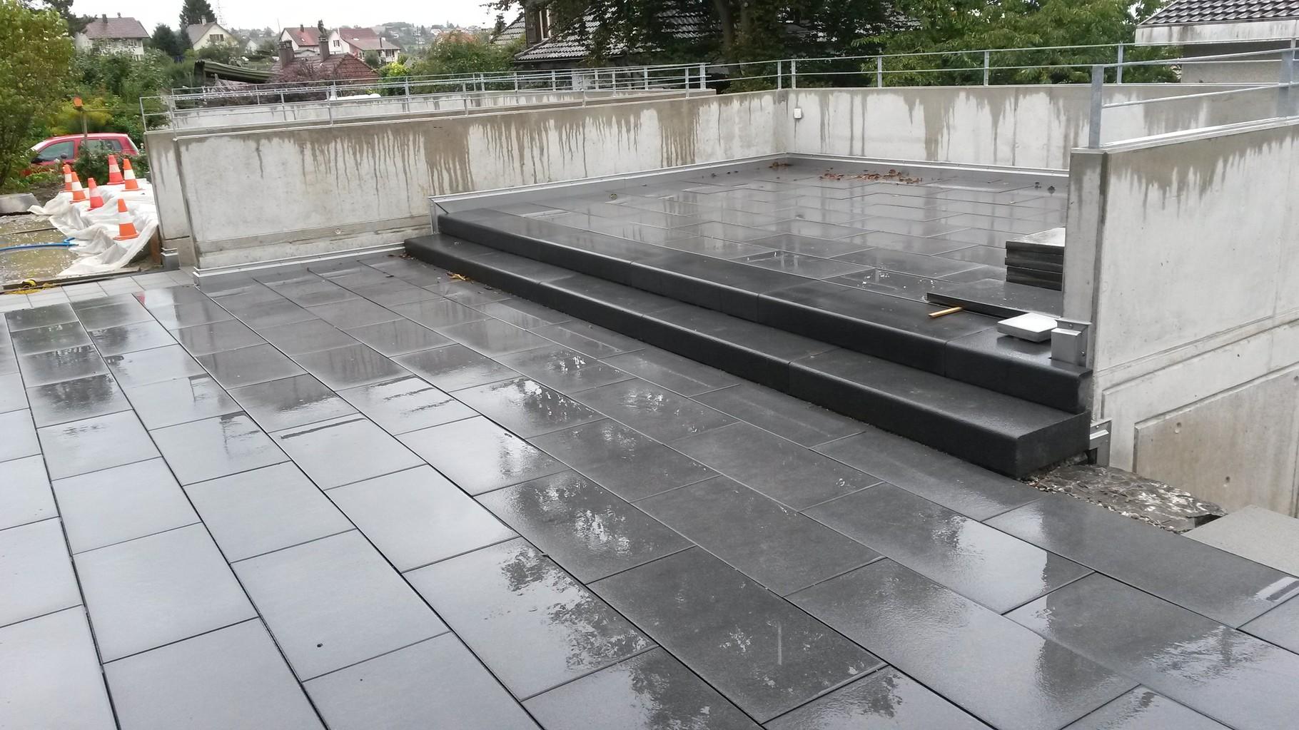 Sitzplatz auf Dachterrasse