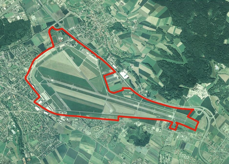 Perimeter Militärflugplatz Dübendorf (Quelle: Unterlagen armasuisse)