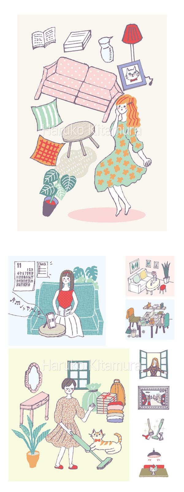 sweet占いBOOK 女の子イラスト ガールズイラスト
