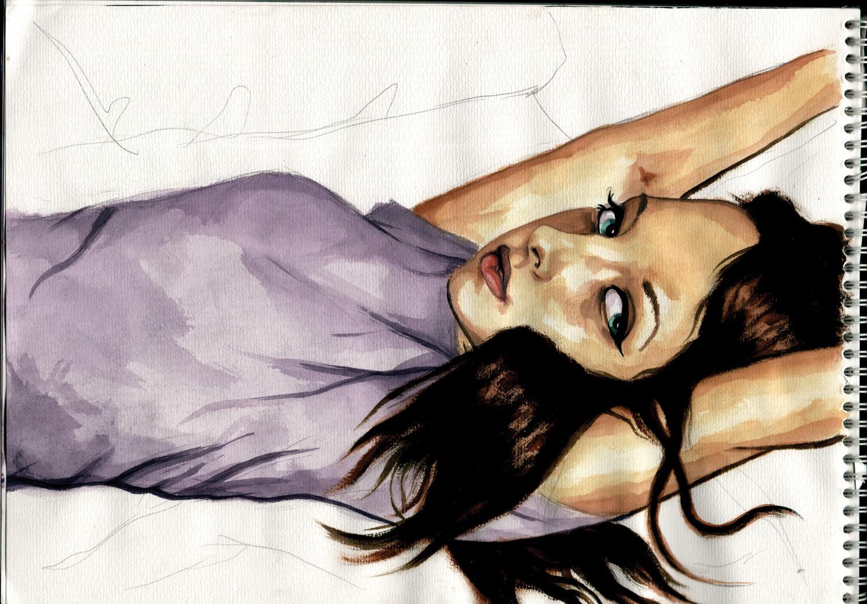 Portrait eines jungen Mädchens, Schwarzwald