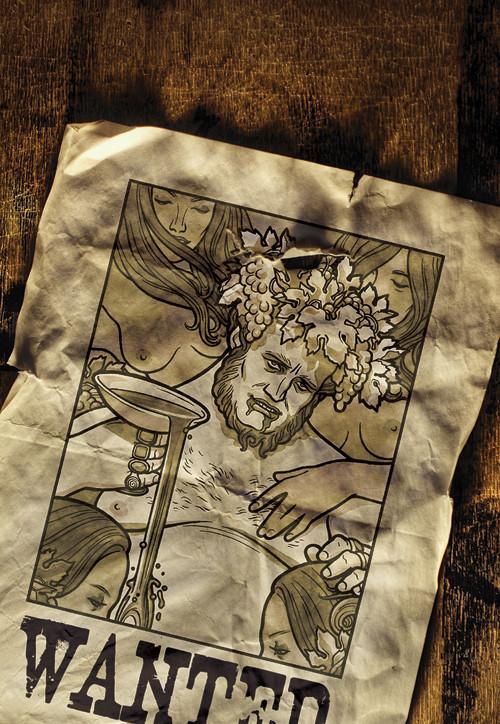 """""""Разыскивается"""" (обложка журнала """"Смена"""", тема номера - """"Сухой закон""""), 2009"""