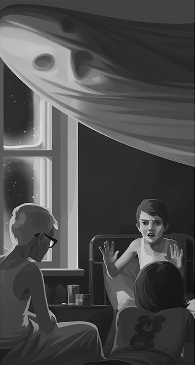 """Фрагмент комикса """"Черный Плащ Ужаснее Белой Простыни"""", 2003"""