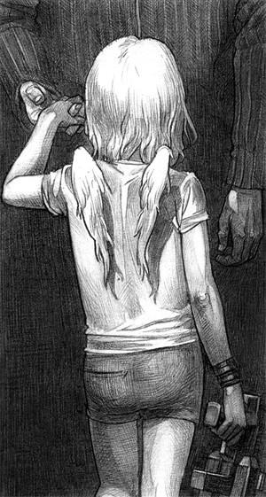 """Фрагмент комикса по мотивам сказки Андерсена """"Нехороший Мальчик"""", 2004"""
