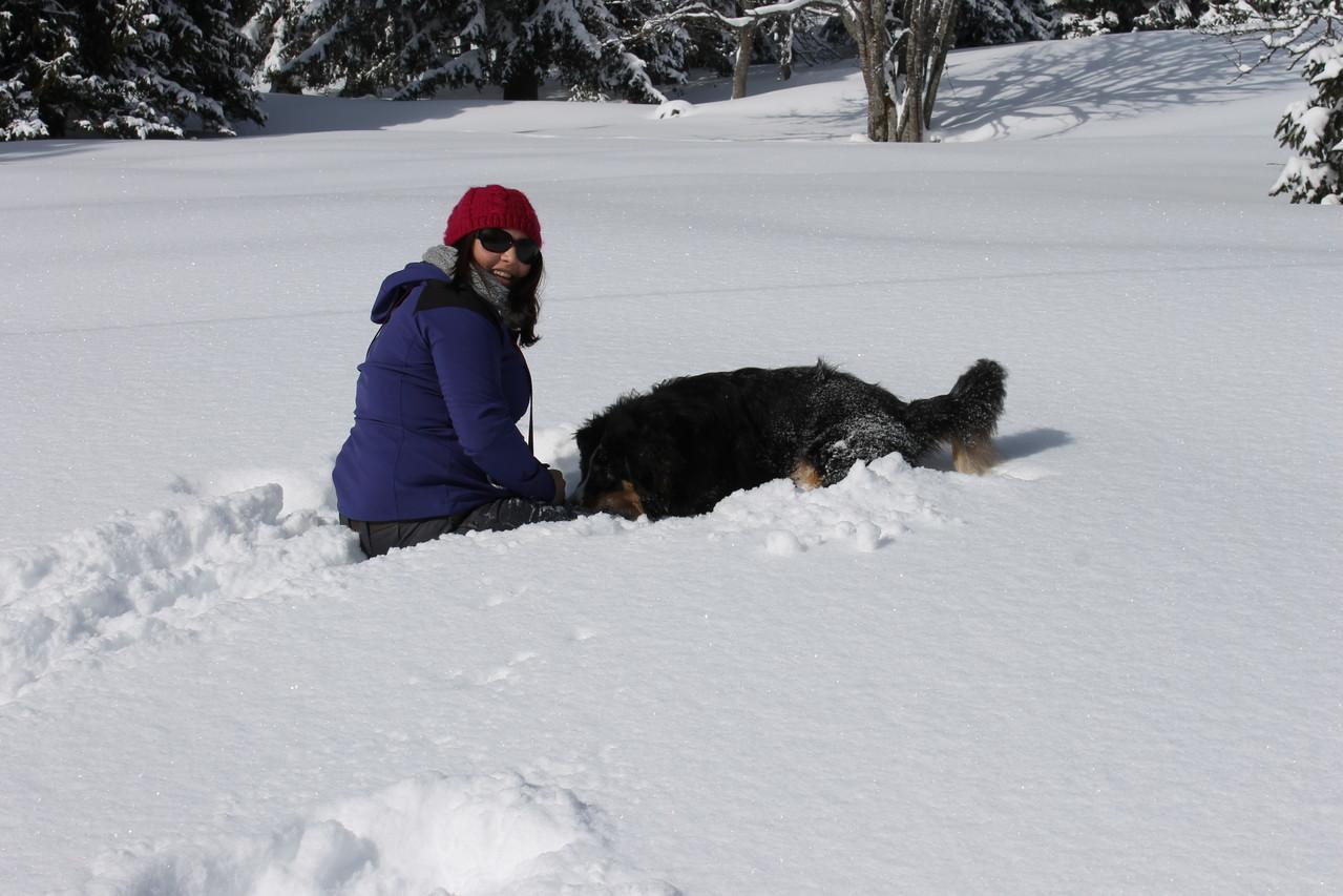 schneee fangen