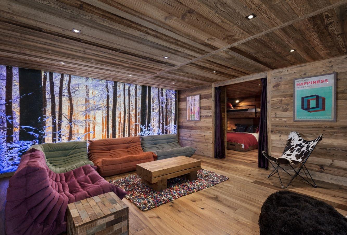 Salon vieux bois