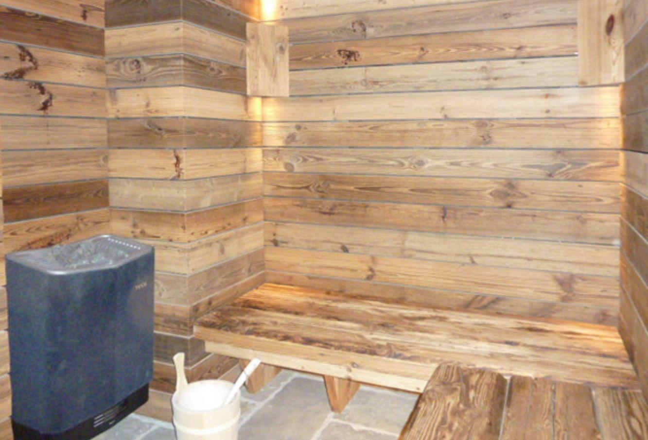 Sauna en vieux bois