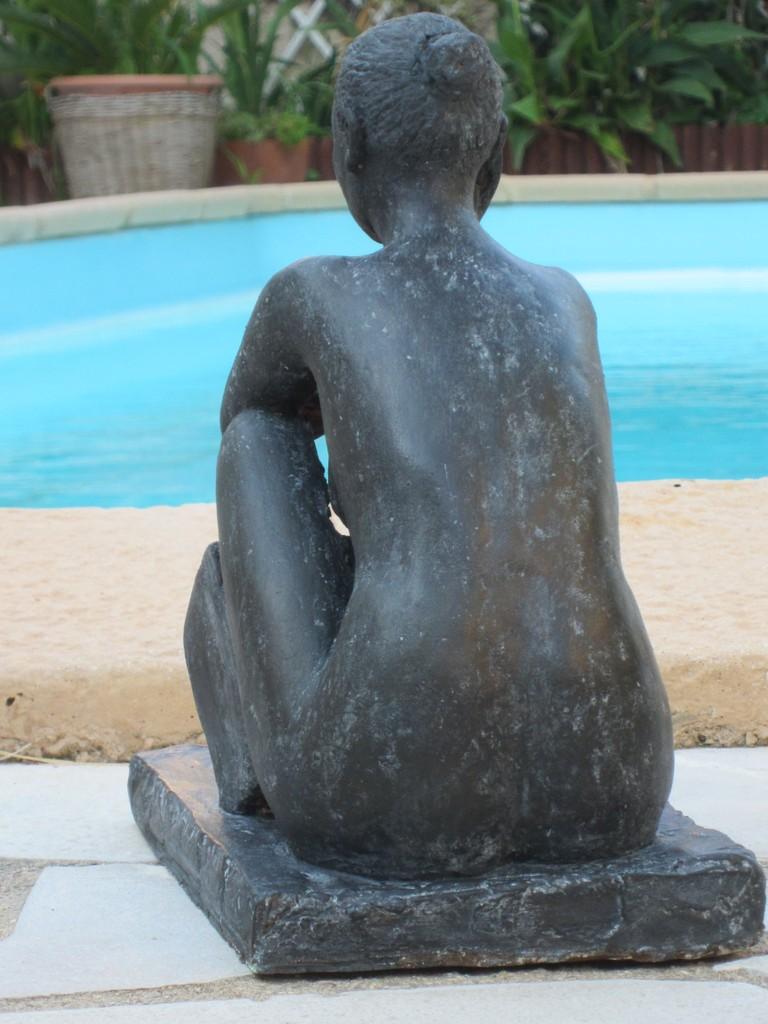 """étude de nu assis"" sculpture argile 2012"