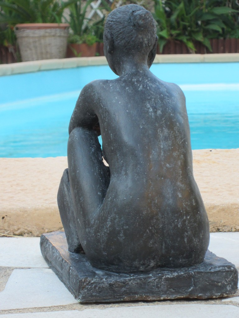 """étude de nu assis"" sculpture argile 2012"