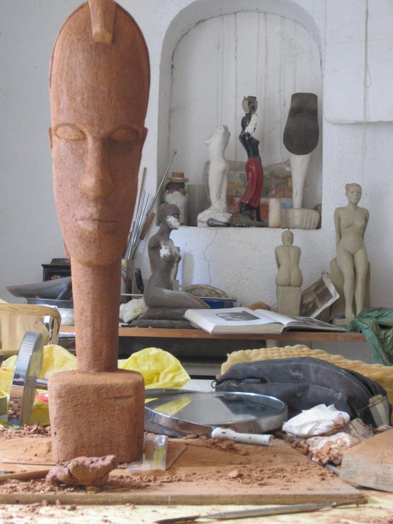 sculpture argile femme nu portrait nouveausculpteur 2014
