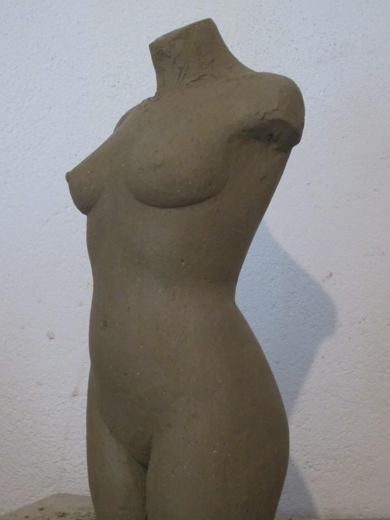 """callipyge anadyomène"" sculpture argile 2013"