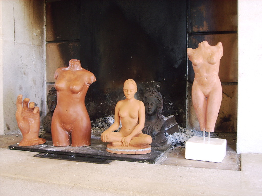 photo de groupe de mes sculptures