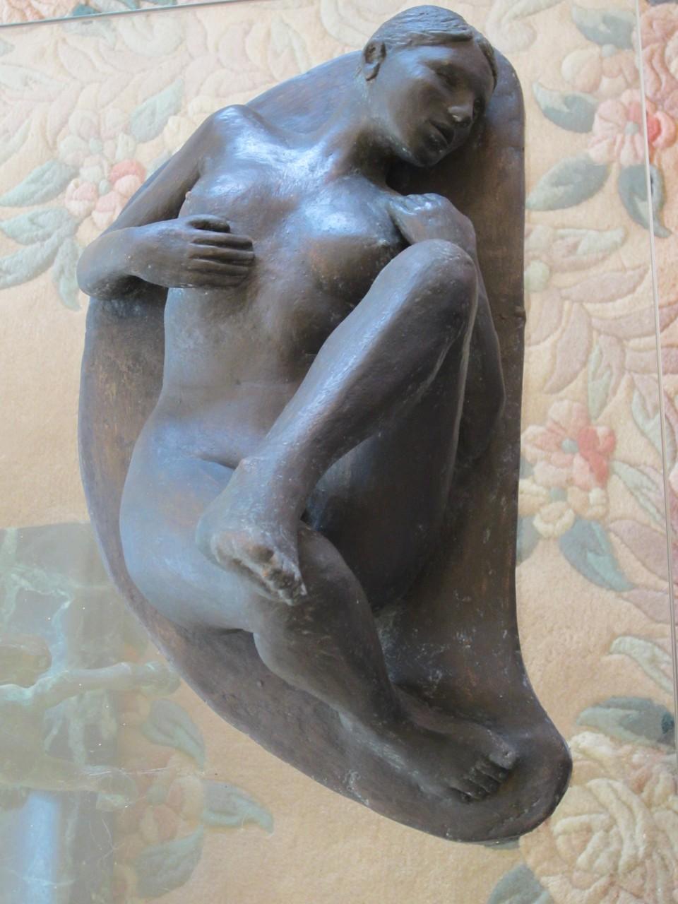 """""""nu couché"""" sculpture argile 2013"""