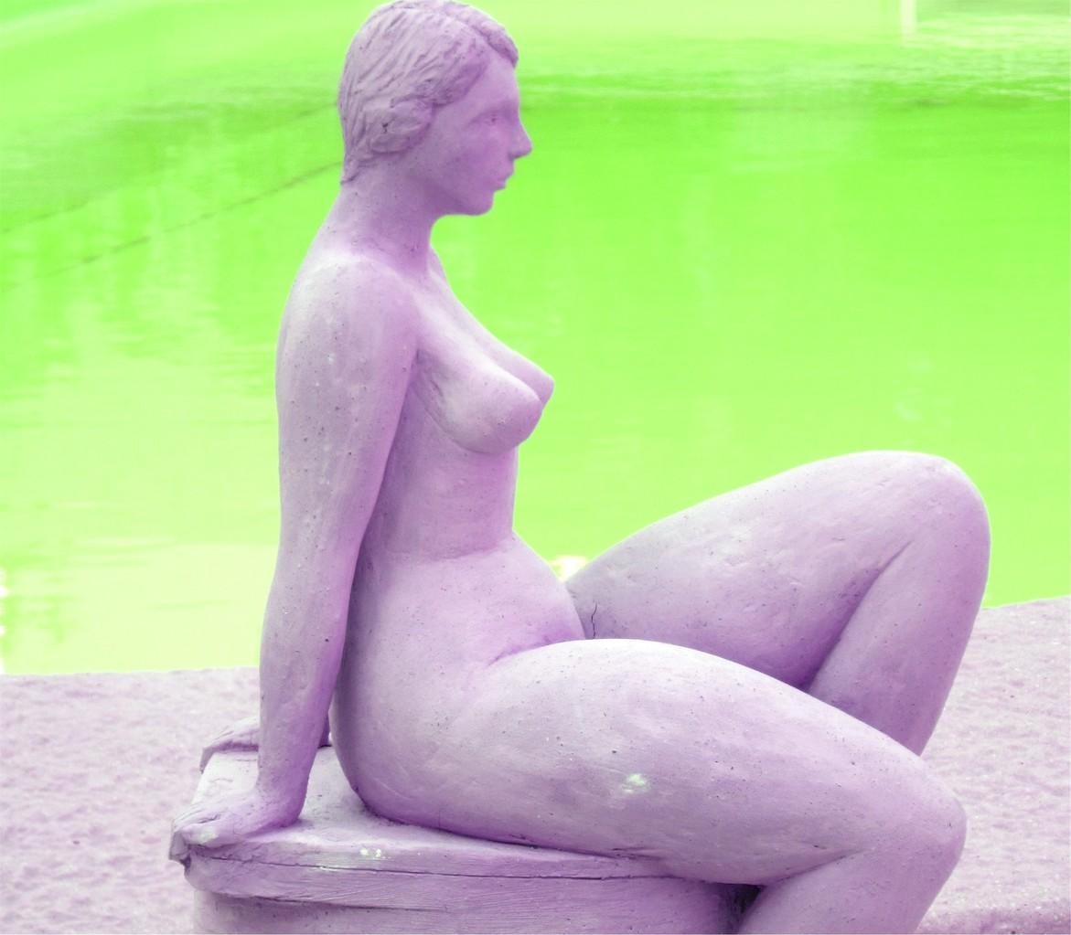 """hommage à Tamara"" sculpture argile 2013"