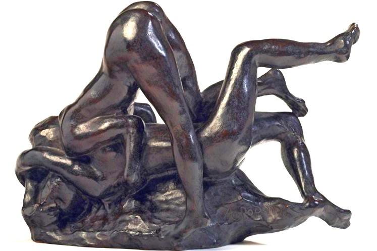 """Auguste Rodin sculpture érotique """"femmes damnées"""""""