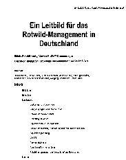 Rotwild in der Eifel - Lösungen für die Praxis aus dem Pilotprojekt Monschau-Elsenborn