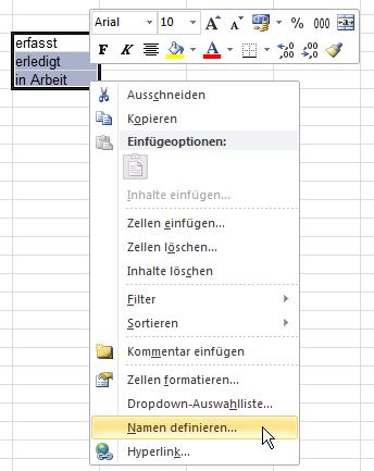 Excel: Drop-Down-Liste erstellen
