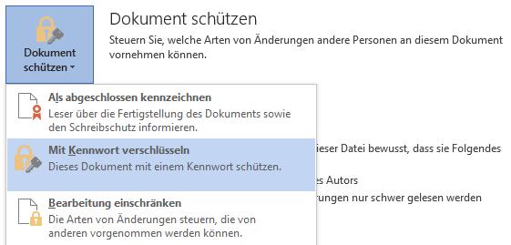 Word 2013: Dokument schützen