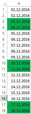 Excel: Bedingte Formatierung - optische Hervorhebung