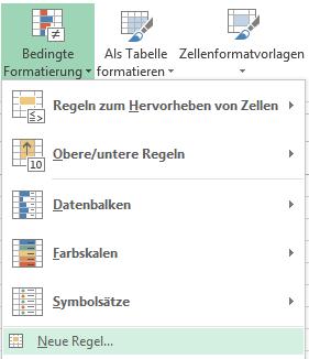 Excel: Bedingte Formatierung