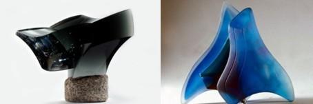 Javier Gomez Studioglas in der CCAA GLASGALERIE KÖLN, Glaskunst, Studioglas