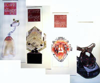 glasgalerie studioglas römisch glaskunst fusing paperweight CCAA museumshop