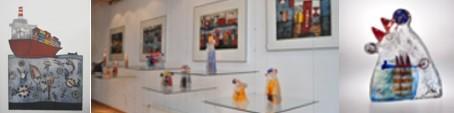 Marjan Smit in der CCAA GLASGALERIE KÖLN, Glaskunst, Sandguss, Grafik