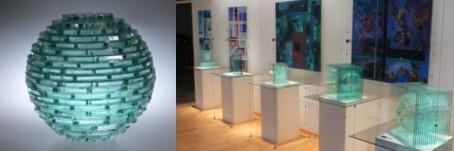 Anatolij Grischko Glaskunst Studioglas in der CCAA GLASGALERIE KÖLN, Glaskunst, Studioglas, Malerei