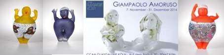 Giampaolo Amoruso in der CCAA GLASGALERIE KÖLN Glaskunst