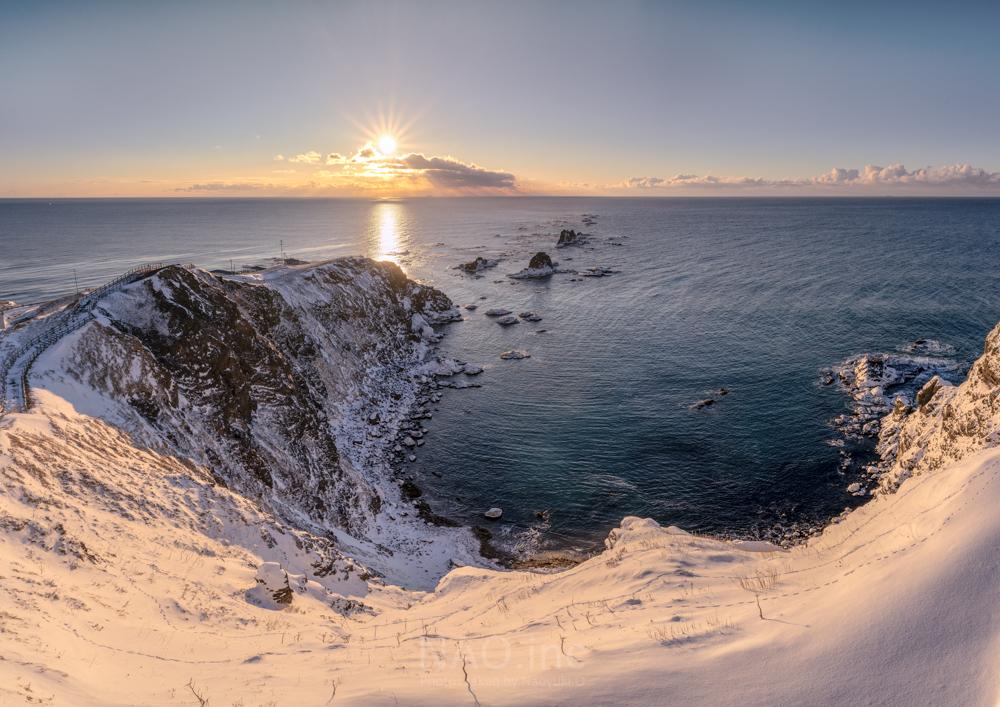 襟裳岬の冬の朝