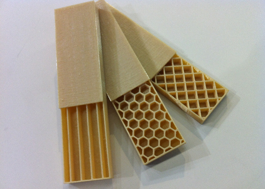 Weight reduction by honeycomb options