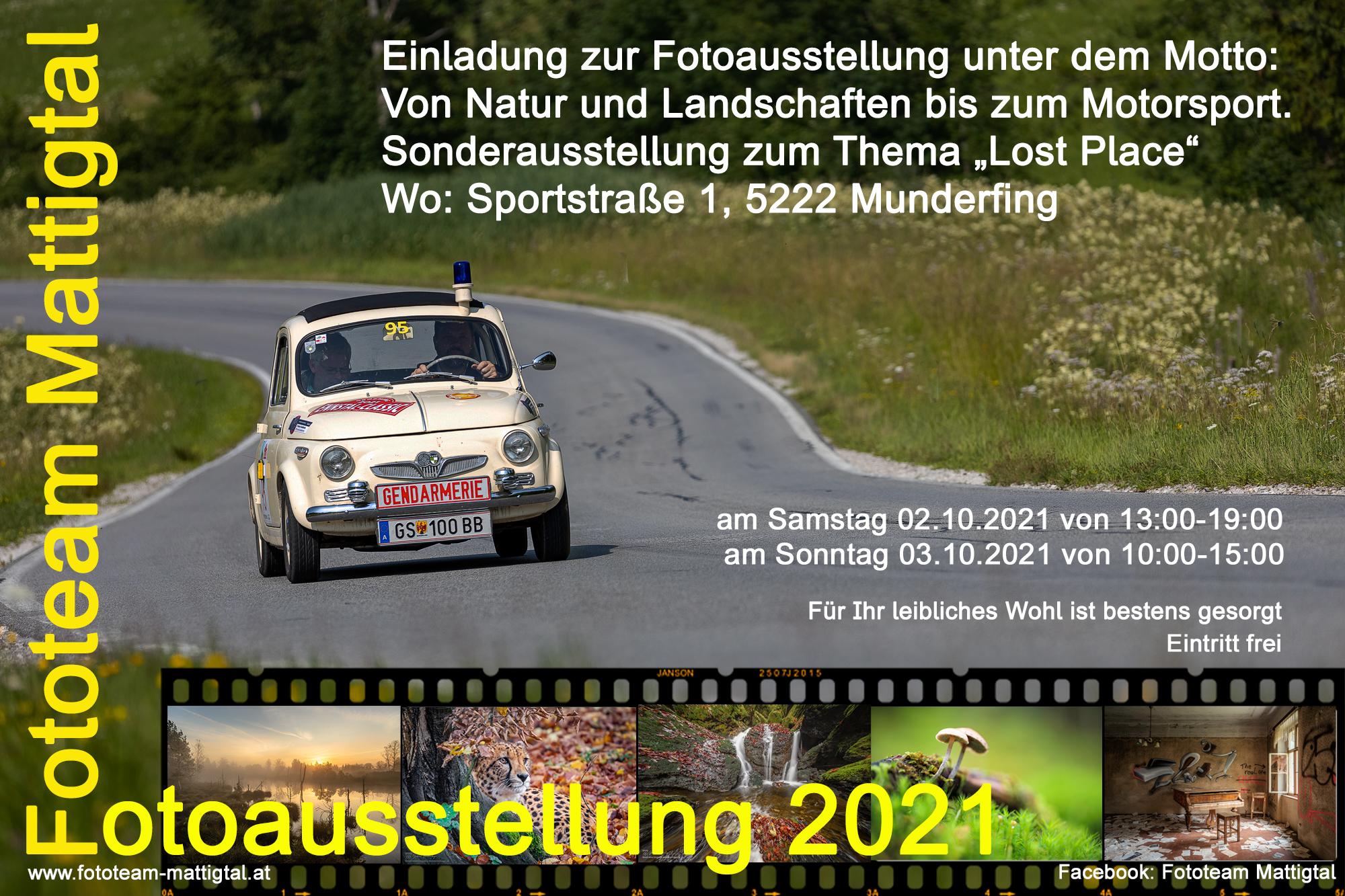 Vorbereitungen zur Fotoausstellung 2021
